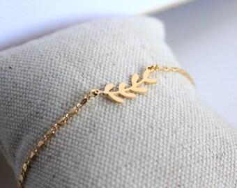 Bay Leaves bracelet/ Jewel for women/ Gift for her