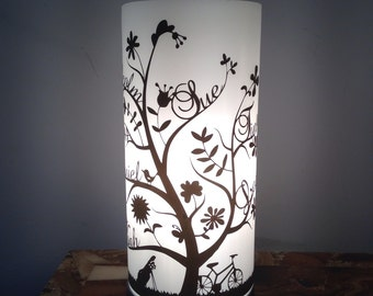 Table lamp | bedside lamp | family tree | Personalised gift