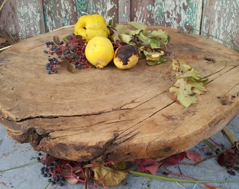 Primitive  Wood Tray ,Round Rustic Wood Board,Serving Plate,Rustic Wood