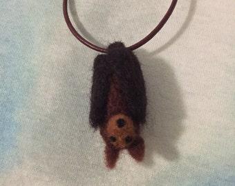 Needlefelt Hanging Bat Necklace