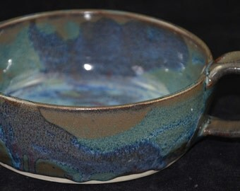 blue green soup bowl