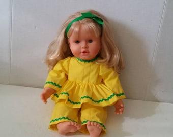"Vintage  Posable Feber Doll 17"""