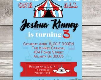 Custom Kid Birthday Party Invitation - 5X7 - Birthday Invitation - Printed Invitation - Custom Invitation - Single Sided