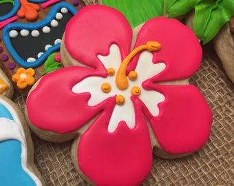 Tropical Hibiscus Cookies