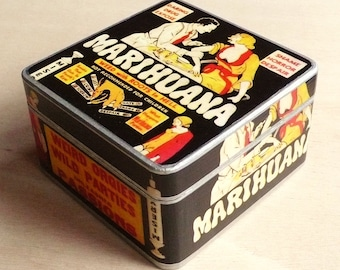 Box Marihuana. Wooden box. Jewerly box