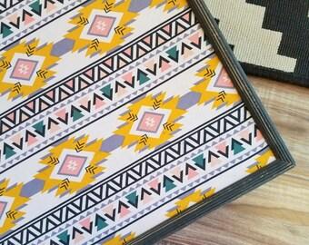 READY to SHIP Aztec Cork Board Tribal Fabric Memo Board Christmas Gift Bulletin Board