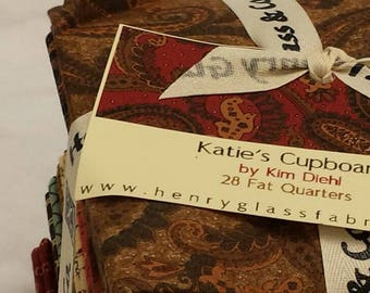 Kim Diehl's 28 Fat Quarter Bundle, Katie's Cupboard Collection from Henry Glass Fabrics