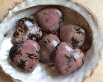 Rhodonite Small Gemstone Heart, 24mm heart,  Healing Stone , Healing Crystal,Chakra Stone, Spiritual Stone