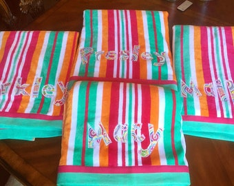Monogram beach towels