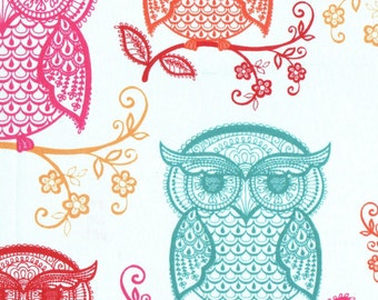Patterned Owls Fitted Crib/Toddler Sheets and Pillow Cases ~Custom Made~