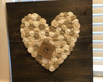 Rustic decor, gallery wall, shabby chic, rustic gallery wall heart, rustic heart, rustic gallery wall