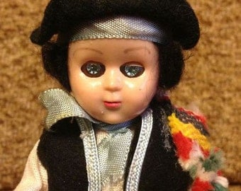 Doll vintage celluloid toy. France