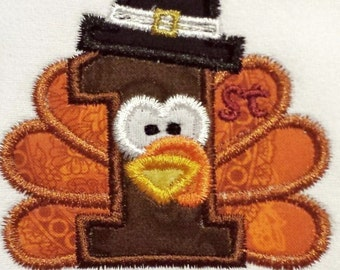Baby's 1st Thanksgiving bib, burp cloth, or body suit.