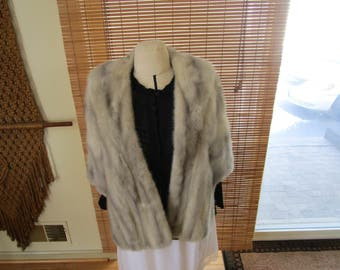 PRICE REDUCED: Vintage Fur Cape