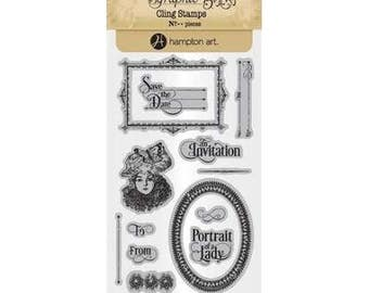 Graphic 45 PORTRAIT of a LADY 3 Cling Stamps IC0382S 1.cc55