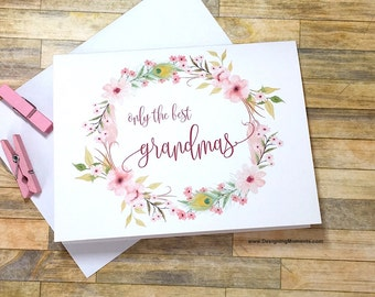 Great Grandma Pregnancy Reveal Card - Pregnancy Announcement to Grandma Card - New Baby Announcement - We Are Having a Baby - BOHEMIAN