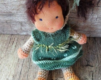 Waldorf style  crocheted doll