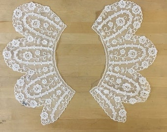 White Lace Collars. Venise Lace for Bridal, Straps, Lolita, Sweaters, Lace Necklaces, Costumes