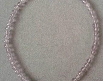 Sterling Silver Beaded Light Lilac Amethyst Bracelet