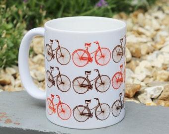 Vintage Style Gift Mug - Bicycles