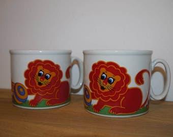 Childrens Mug - Germany - Lion - Studio Fisher & Fisher - 70s - RETRO -
