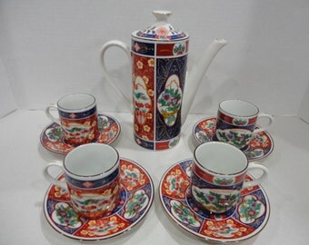 Ten Piece Oriental design Tea Set