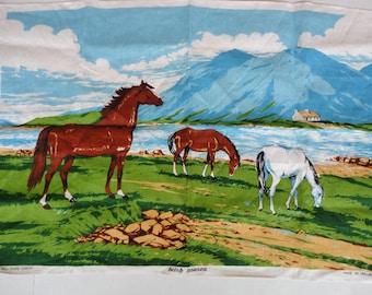 Irish Linen Tea Towel - Irish Horses
