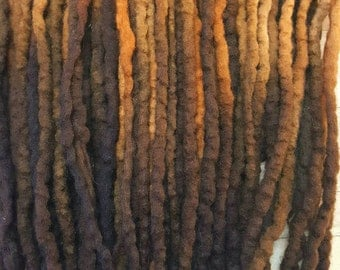 Wool Dreads Hair Extensions Wool Dreadlocks set of 60 Dreadlock