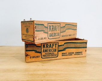 Vintage Kraft American Cheese Boxes