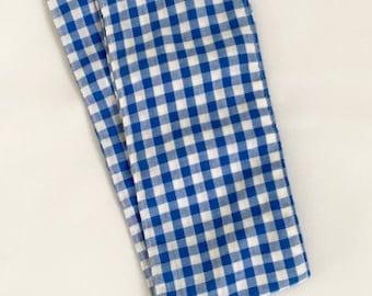 Blue Gingham Headscarf / Headband / Checked / Headwear