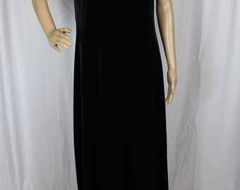 90s long black velvet dress