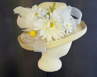 KENTUCKY DERBY  Daisy Straw Hat