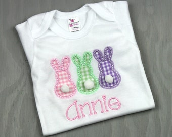 Baby Girl Easter Shirt - Easter Bunny Outfit - Girl Easter Shirt - Easter Bunny Shirt - Baby Girl Bodysuit