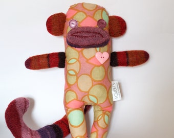 SQUEETS craft Funky Monkey 'Chloe' handmade unique softie