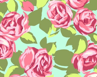 Amy Butler - Tumble Roses in Pink - Designer Fabric - AB48 Pink
