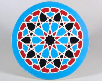 Starburst Mandala Tile Trivet - Decorative Tile - Kitchen Tile - Hot Plate - Moroccan Tile Trivet - Art Tile - Wall Tile - Accent Tile