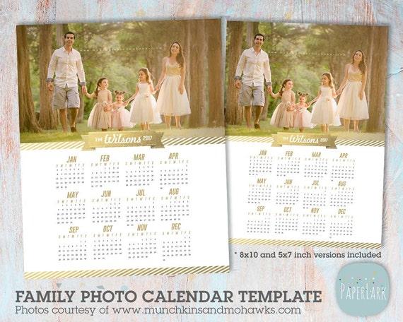 Items similar to 2017 Family Calendar Template - Printable ...