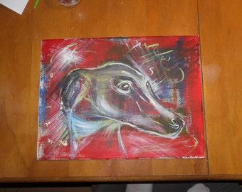 The  colorful Acrylic Greyhound