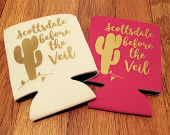 Scottsdale before the veil bachelorette party can coolers / scottsdale bachelorette party / bachelorette party favors / fast shipping