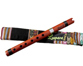 Professional Lupaca Bloodwood Quena in G Tunable.