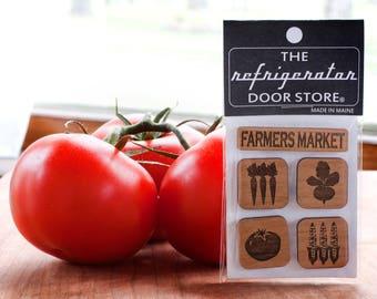 Refrigerator Magnet. Fridge Magnets. Kitchen Magnets. Kitchen Decor. Magnets. Farmers Market.