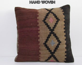 24x24 kilim pillow khelim euro sham 60x60 pillow cover large pillow sham oversize pillow case 60x60 kilim pillow large rug euro pillow A1101
