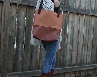 Market Tote - Water Resistant Tote - Eco Friendly Bag - Recycled Fabric - Tote Bag - Large Shoulder Bag - Work Bag - Teacher Bag