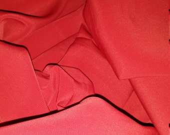Silk crepe fabric, burgundy /wine red, best italian quality, made in Italy 1,80 meters x 1,50
