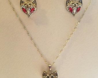 Fox Necklace/Fox Jewelry/Wolf Necklace/Silver Fox Necklace/Cute Fox/Kawaii Necklace/Animal Necklace/Fox Charm/ Pendant