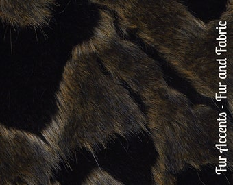 Faux Fur Dark Black and Gray Spotted Arctic Fox - Fabric - Shag, Crafts, Sewing, Baby & Pet  Photo Props