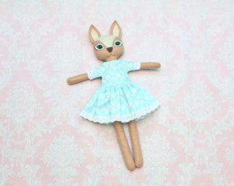 Deer doll Handmade fawn doll Deer plush Woodland deer plush Stuffed fawn Felt Reindeer plush Deer stuffed Animal Heirloom doll Fawn softie