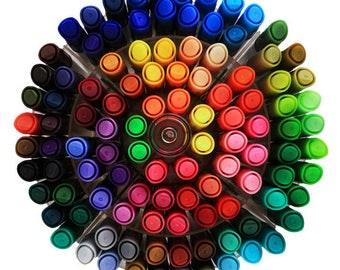 100pc Washable Watercolor Markers Pens Bold Bullet Point Doodling Coloring