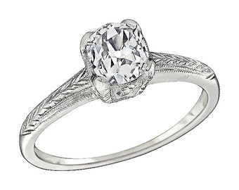 Antique 0.92ct Diamond Engagement Ring