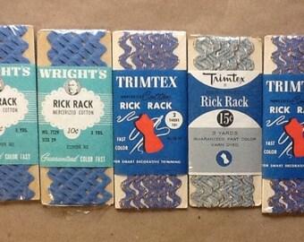 Vintage Lot Blue Rick Rack